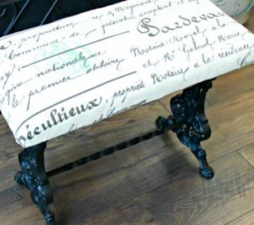 How to Make Over a Thrifted Iron Bench
