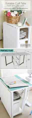 Remodelaholic Diy Folding Craft Table Or Foldable Desk