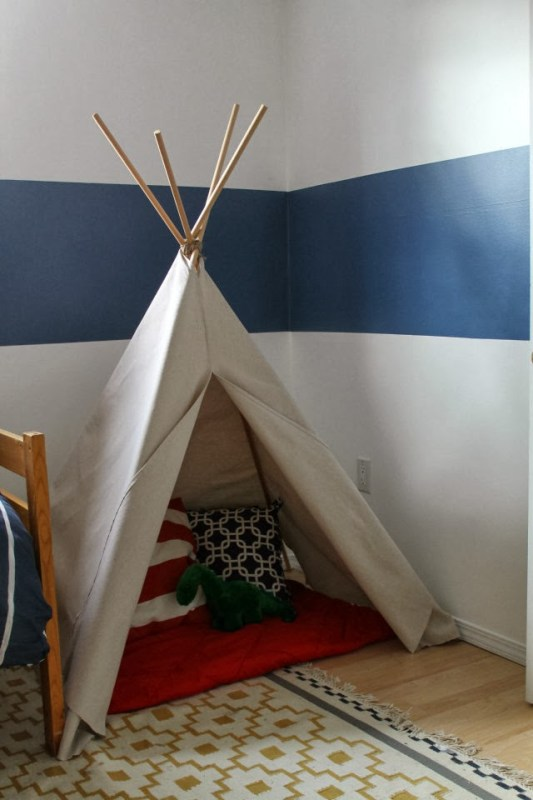 no sew teepee from a dropcloth
