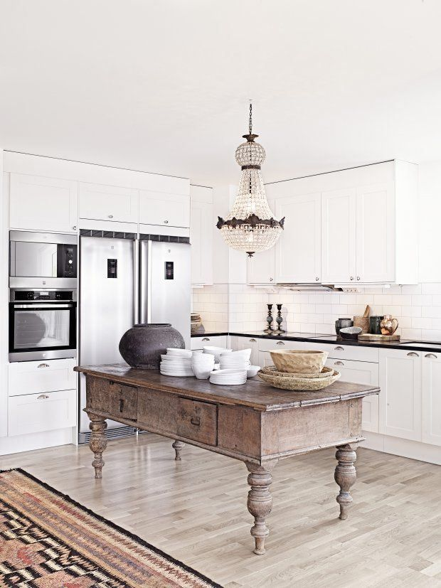 rustic glam kitchen island & Remodelaholic | Decorating with Style ~ Rustic Glam
