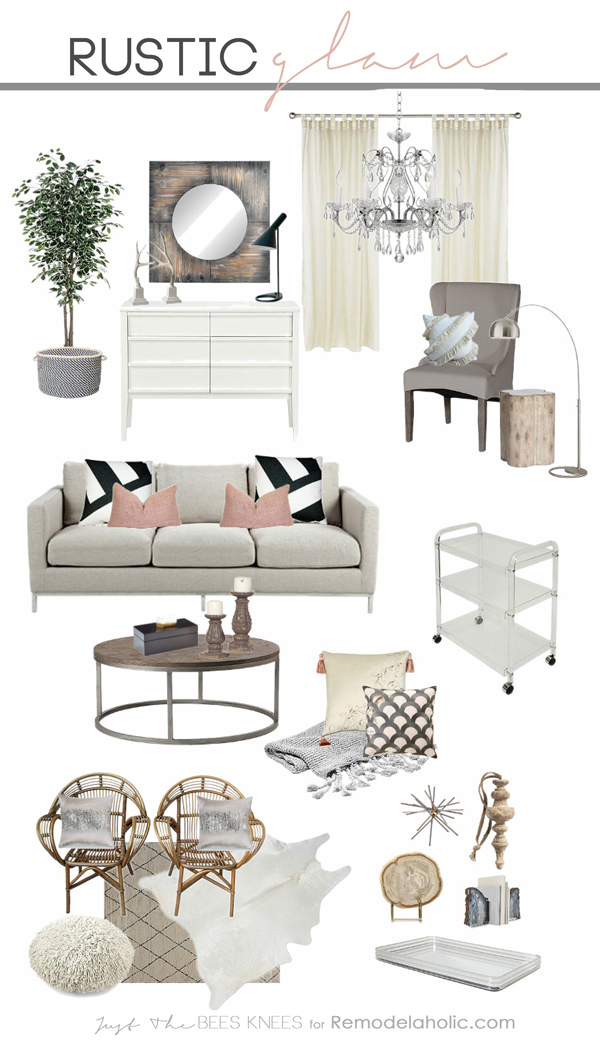 glamorous cheap living room wall decor | Remodelaholic | Decorating with Style ~ Rustic Glam