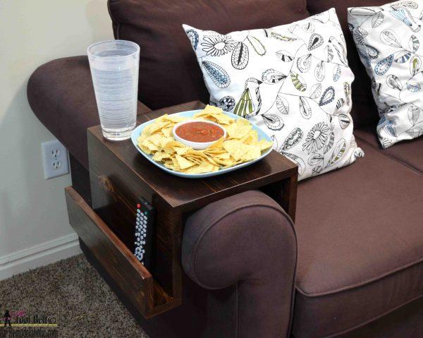 sofa arm table square