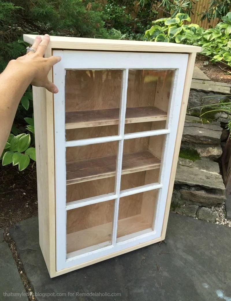 window cabinet construction