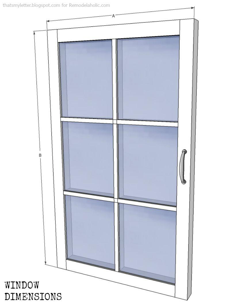 window cabinet window