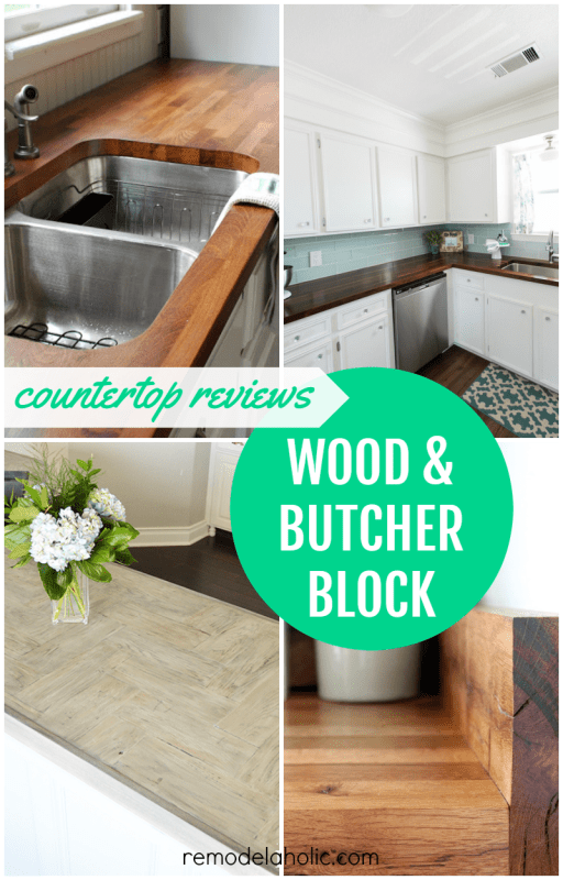 Butcher block can take some extra care to maintain, but the warmth and charm are worth it! See if wood is right for your kitchen or bath with these wood countertop reviews from DIYers.