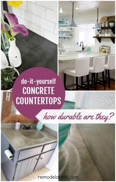 DIY Concrete Countertop Reviews @Remodelaholic