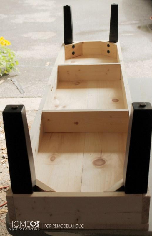 DIY long bench