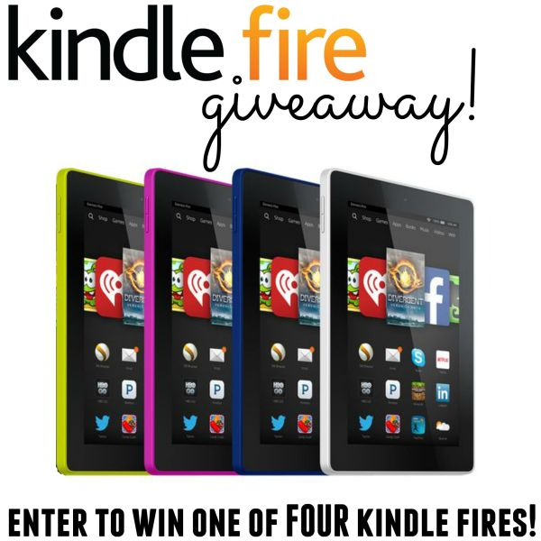 Easy entry Kindle Fire giveaway! Four winners!