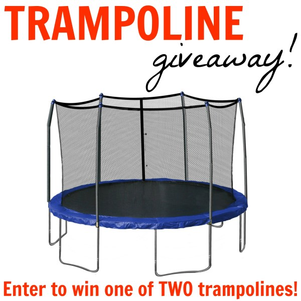 Enter to win one of two trampolines! Check your Christmas shopping off the list ;)