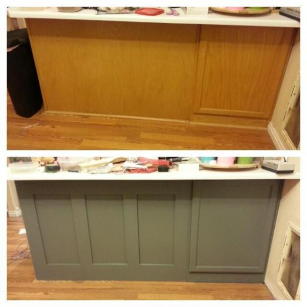 Holly DIY painted kitchen cabinets update and review