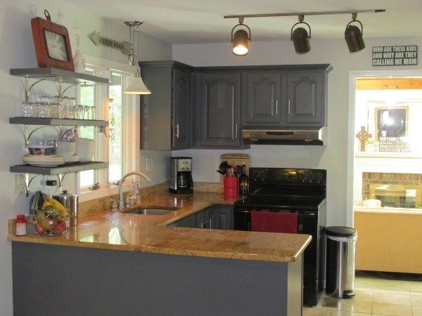 LeeAnn painted kitchen cabinets process review