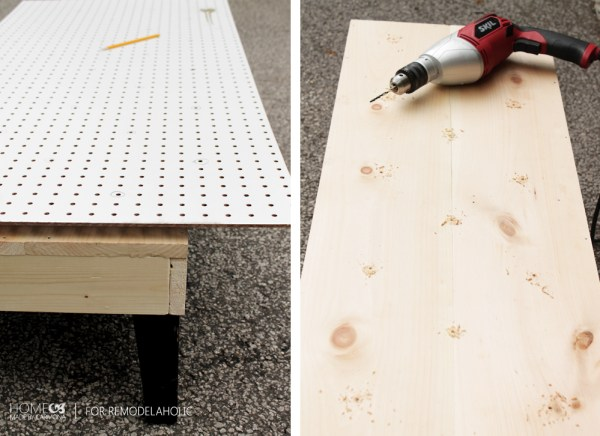 Tufting a DIY bench