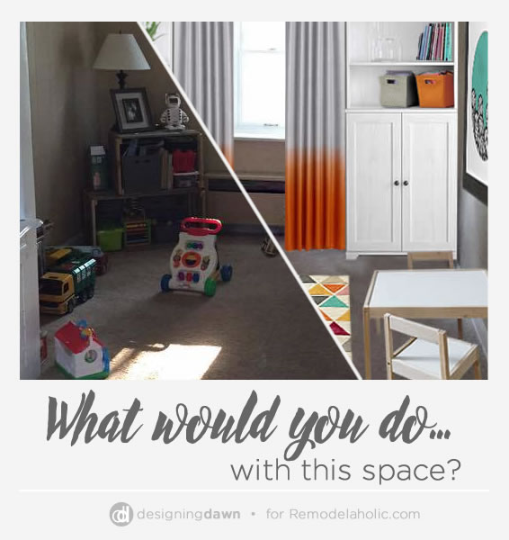 Some basic but useful storage concepts can turn a cluttered playroom into a kid-friendly but tidy space! See what ideas Dawn gave this reader to make over her play room.