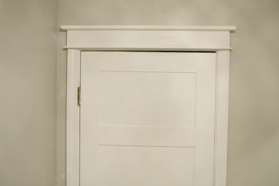how to add craftsman trim to a door frame Mrs Do It Herself
