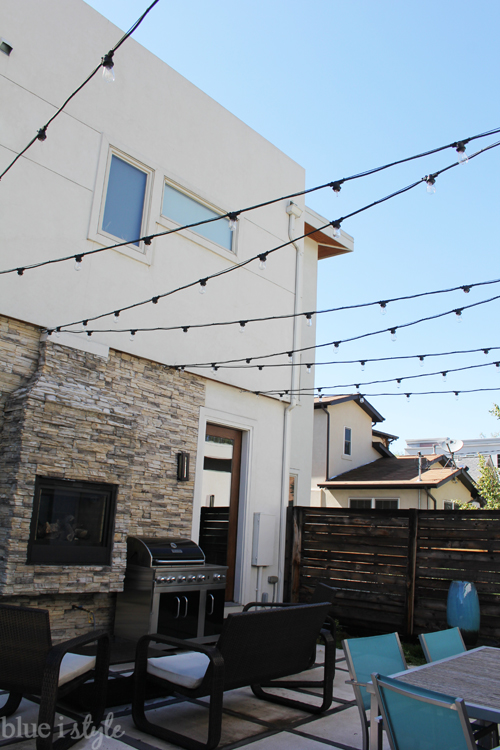 how to string outdoor lights BlueIStyle