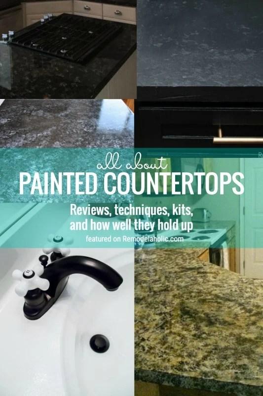 remodelaholic diy painted countertops