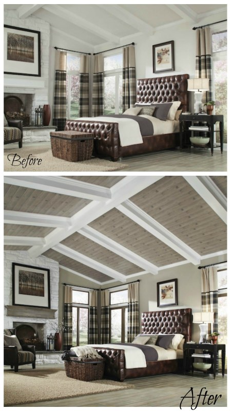 Armstrong planked ceiling makeovers