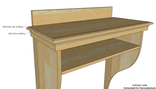 Built in Entry Table - add molding
