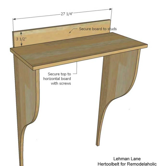 Built in Entry Table -horizontal