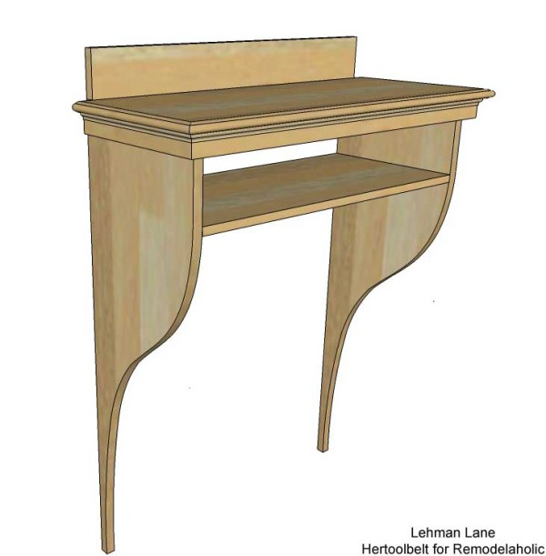 Built in Entry Table - overall view