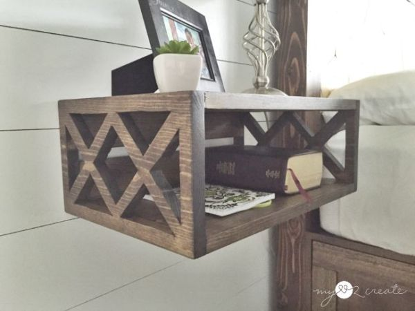 DIY floating night stand from one board Mylove2create