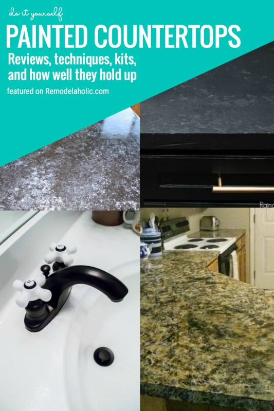 Do It Yourself Painted Countertops. Reviews, Techniques, Kits, And How Well They Hold Up Featured On Remodelaholic.com