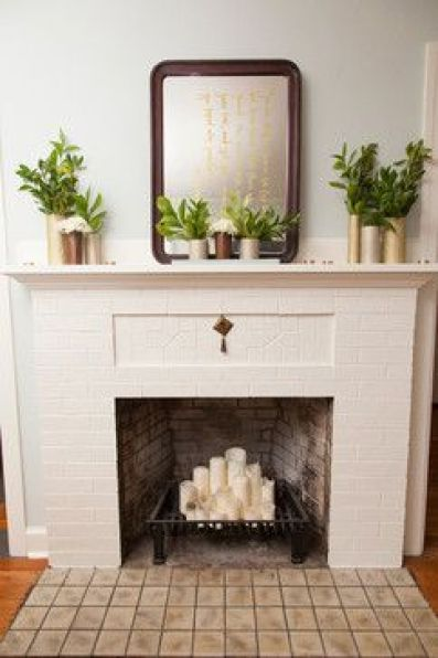What to do with a non-functioning fireplace: candles