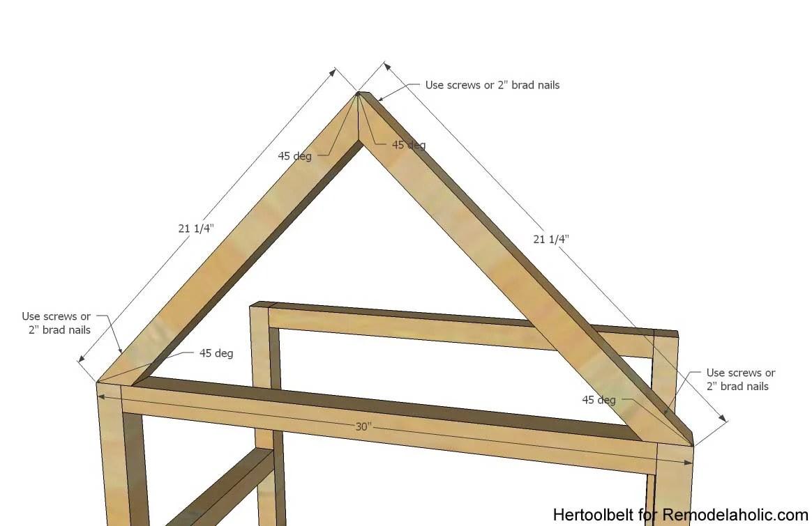 Remodelaholic | DIY House Frame Bookshelf Plans