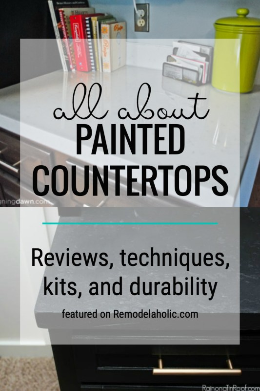 Learn All About How Well Painted Countertops Hold Up And Which Kits Are Worth Using Featured On Remodelaholic.com