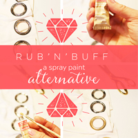 Rubb'n'Buff Spray Paint Alternative on Petite Modern Life