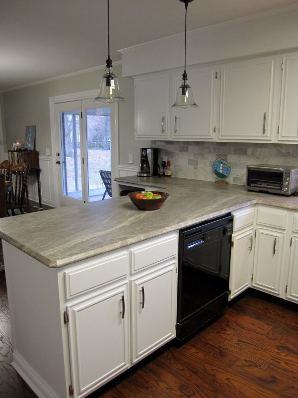 New soapstone style laminate countertops