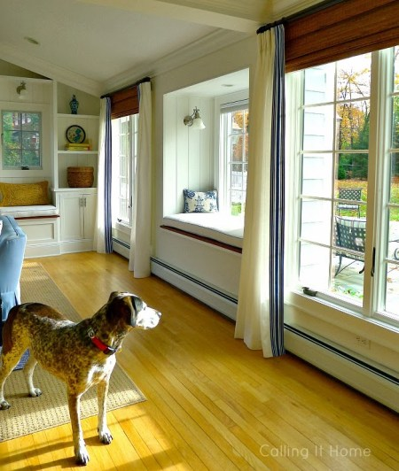 add pinch pleat white curtains trim