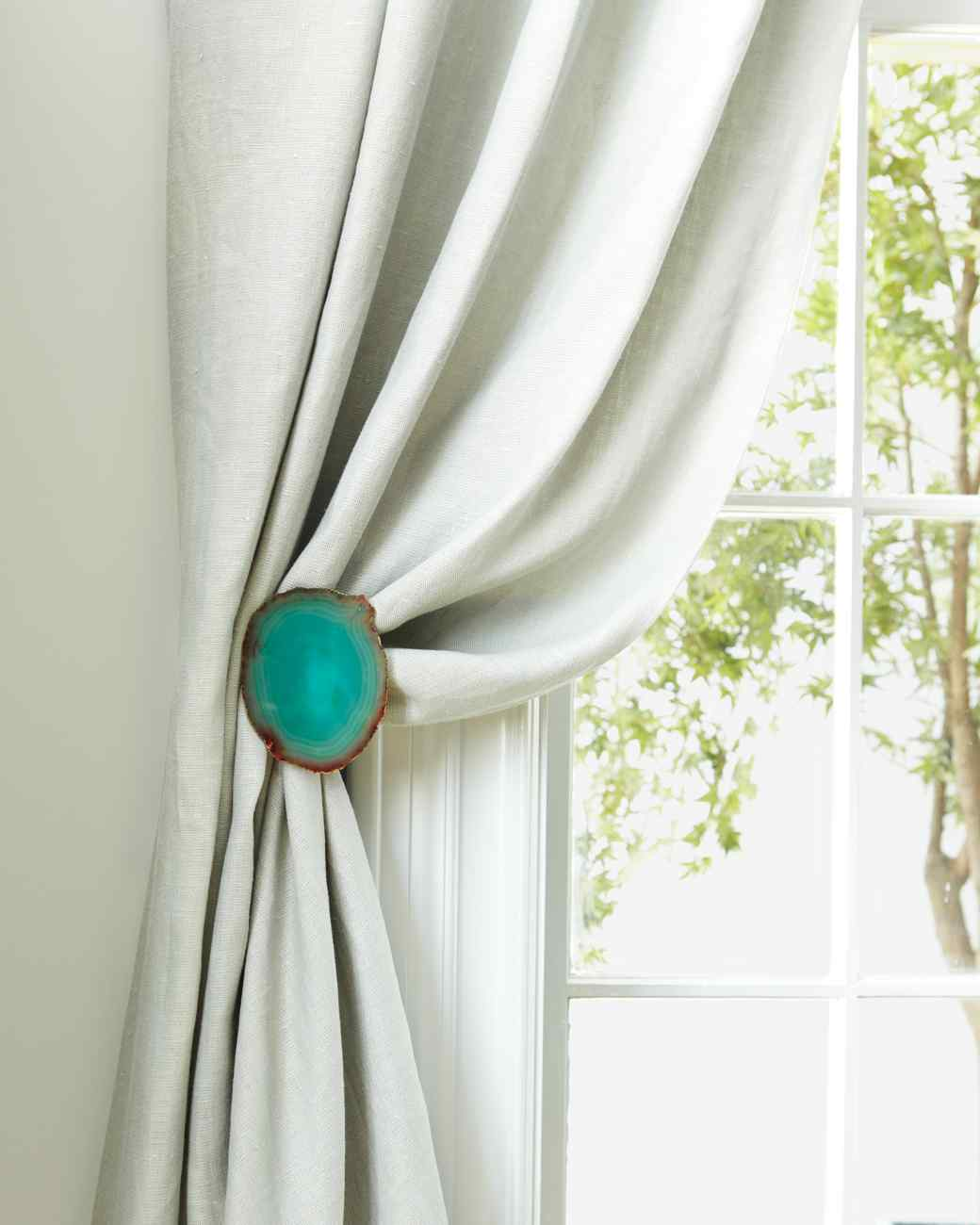 spruce up white curtains