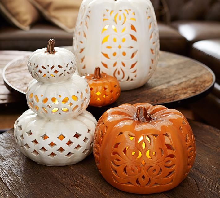 Remodelaholic Beautiful And Easy Pumpkin Tablescape Ideas For Halloween And Thanksgiving