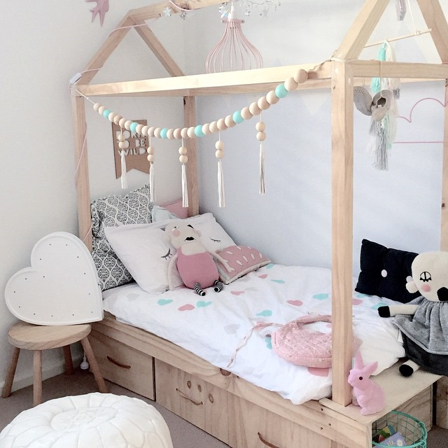 Cute Kids Room Decorating Ideas: House-Shaped Beds Galore