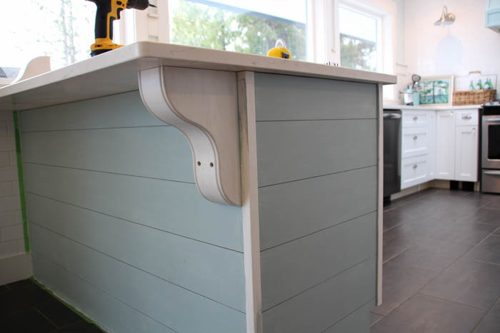 Diy Planked Kitchen Island With Corbels And A Tip For Hiding The Corbel  Screws, The