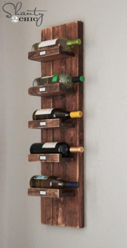 diy wall wine rack