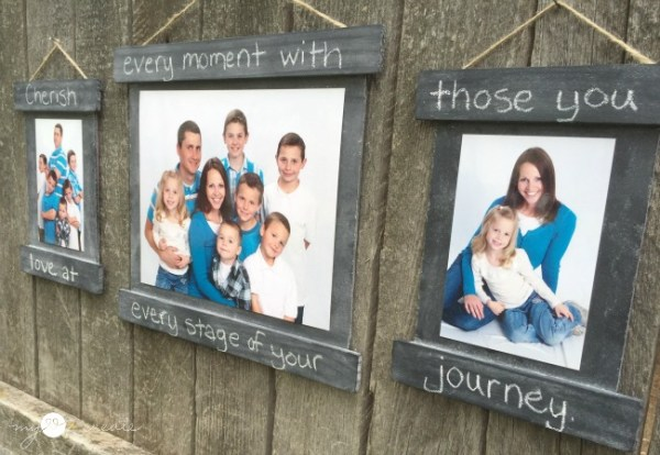 easy chalkboard frames made from paint sticks