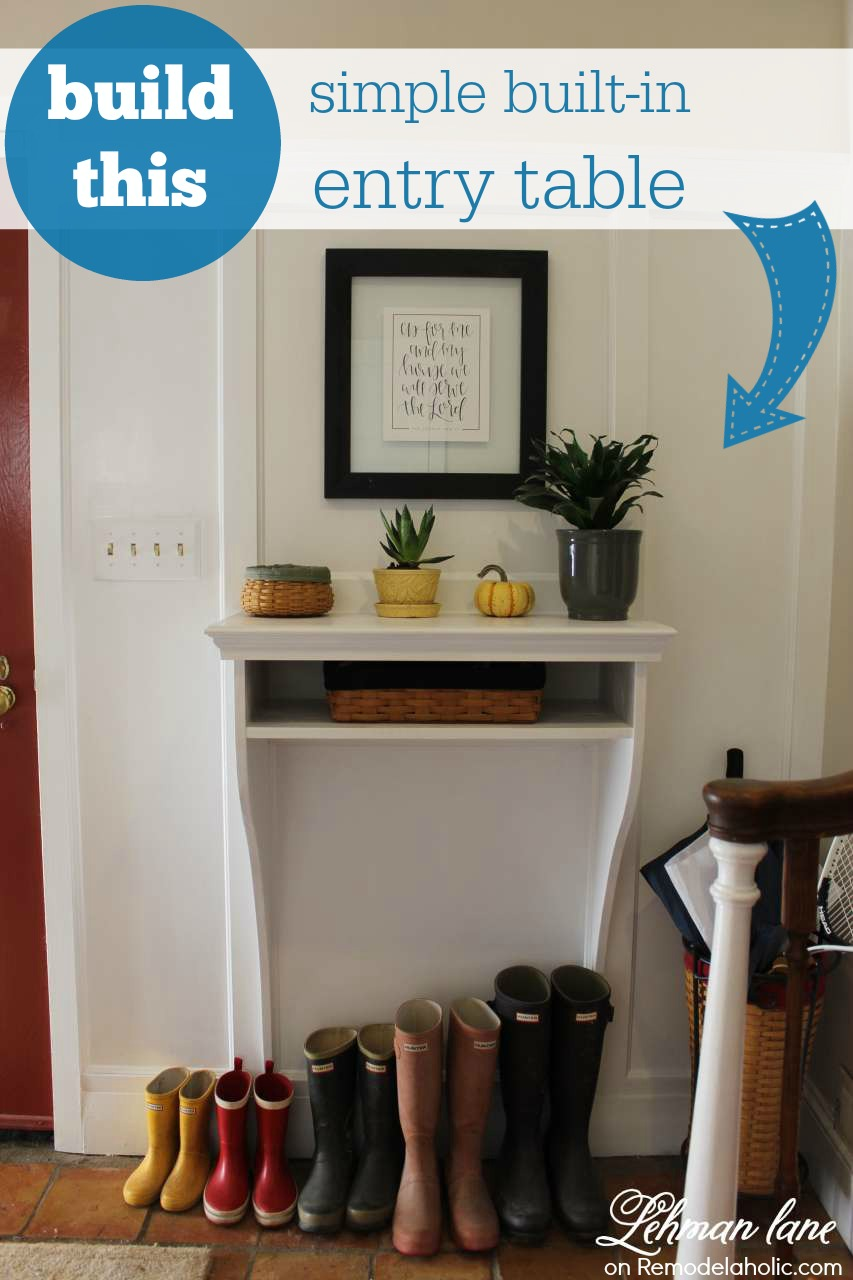 Charmant This Built In Entryway Table Is Perfect For A Small Entry! It Takes Up