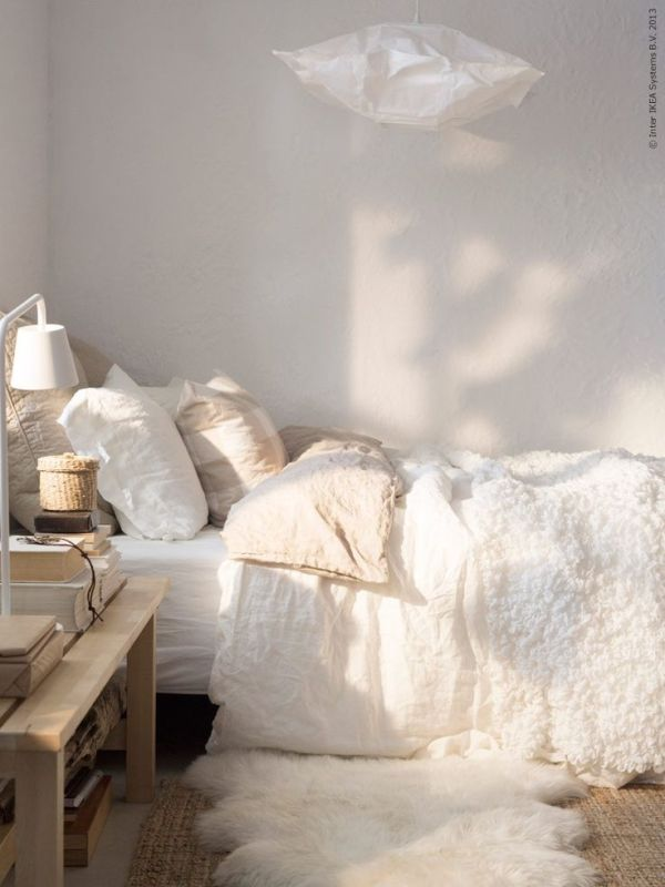 Tips for Decorating with Neutrals: neutral bedroom with texture