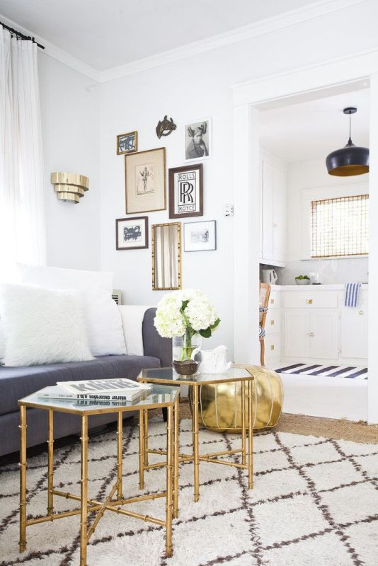 Neutral Decorating Tips: neutrals with metallics