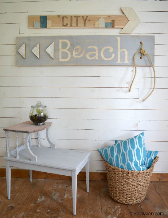painted scrap wood signs DIY Passion