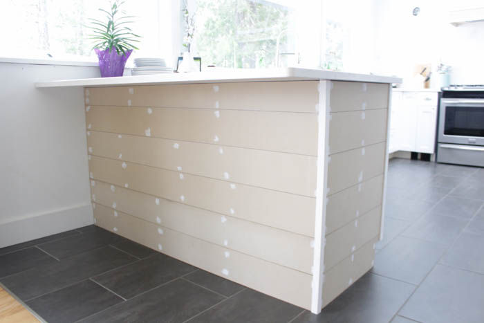 Remodelaholic Update A Plain Kitchen Island Or Peninsula