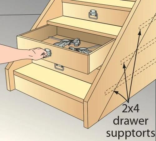 stair riser drawers vai Wood Magazine