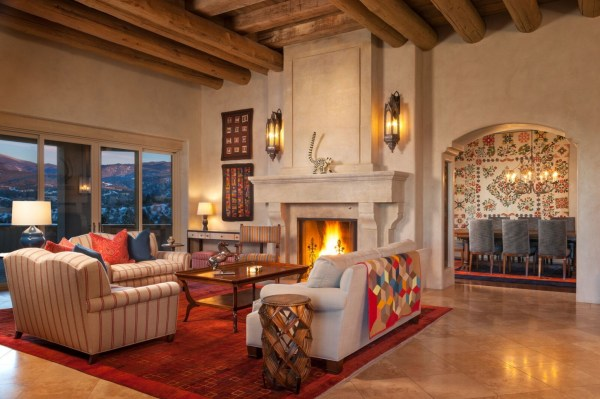 colorful modernized Southwest sitting area by Violante & Rochford Interiors, photo credit © Wendy McEahern