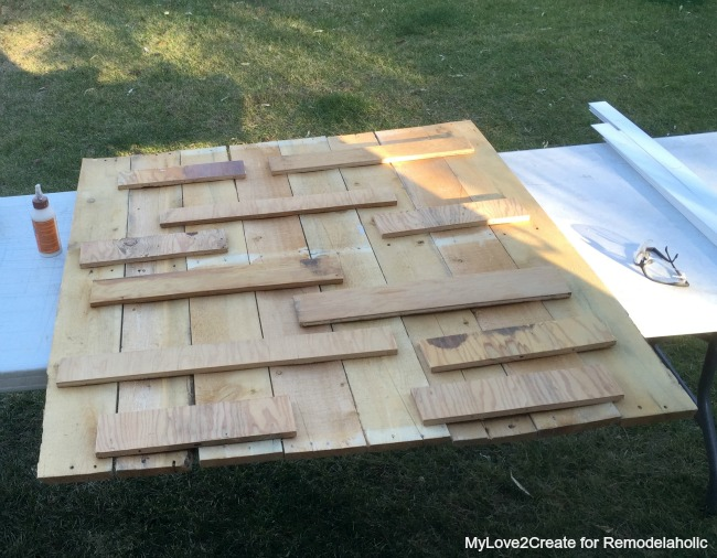 Attaching pallet wood with scraps, I had no idea it was so easy to make those HUGE wood letters!