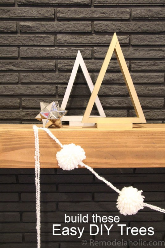 Add Christmas decor in a simple minimalist style with these easy triangle trees in three sizes. Plus, an easy tip for cutting a non-standard angle on a miter saw.