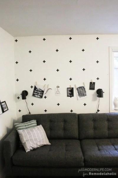DIY swedish cross wall