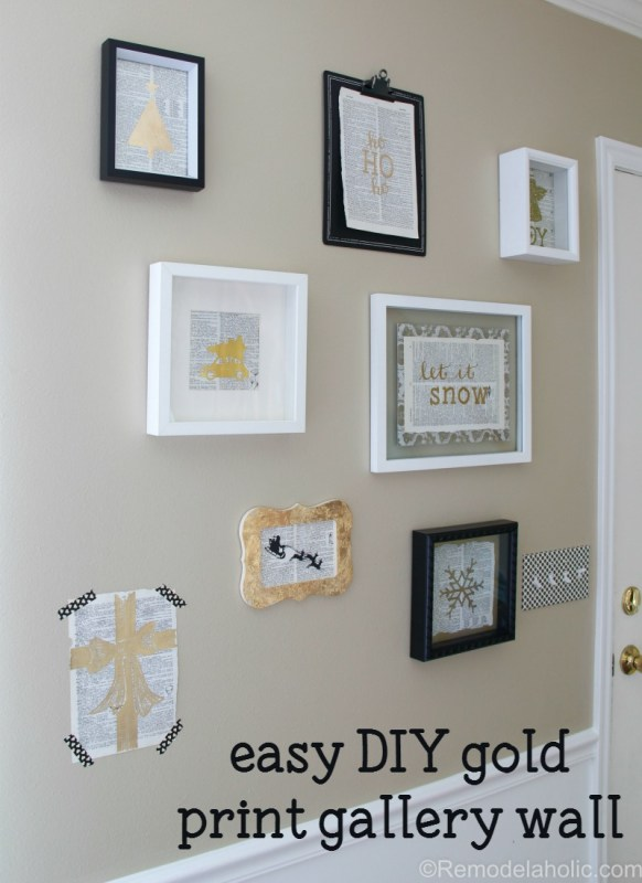 Gold foil prints are popular and beautiful, but you can make your own easy and budget-friendly DIY gold prints, too! This tutorial shows you not just one but FOUR different ways to create your own gold art.