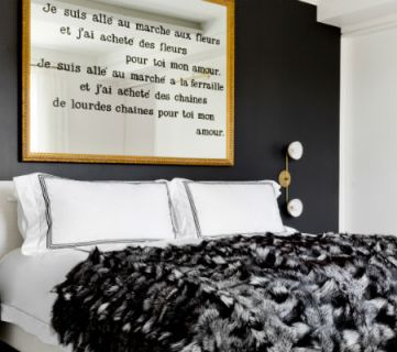 How to create a luxurious home with black and white decor